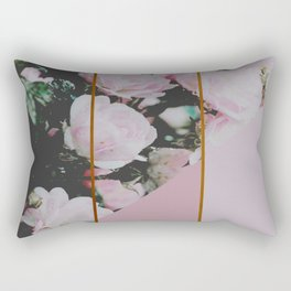 Pink Roses Palette Rectangular Pillow