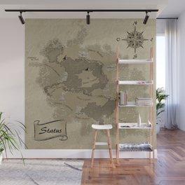 Mythos : Carte Globale Wall Mural