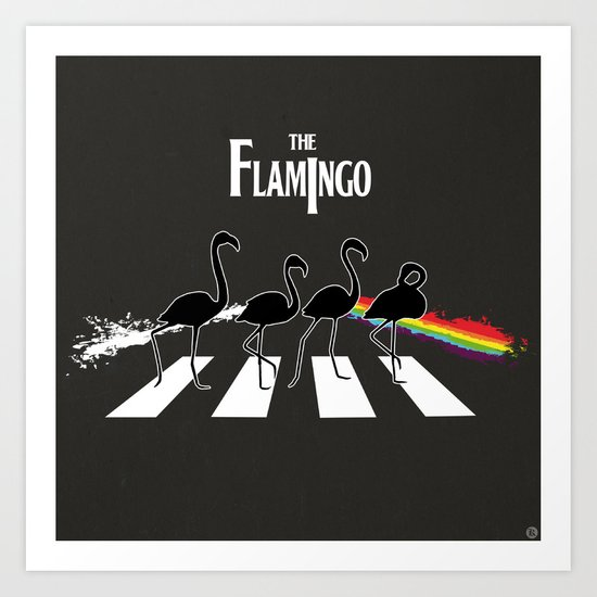 The Flamingo Art Print