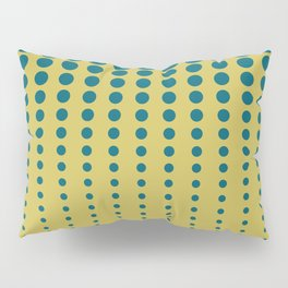 Tropical Dark Teal Reduced Polka Dots Minimal Pattern Inspired by Sherwin Williams 2020 Trending Color Oceanside SW6496 on Dark Yellow Pillow Sham