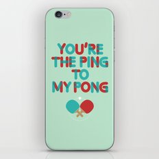 Love is like ping pong iPhone & iPod Skin
