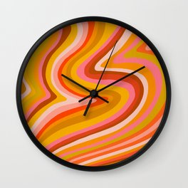 Sunshine Melt – Retro Ochre Wall Clock