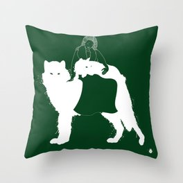 Mother of Wolves Throw Pillow