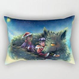 Snowy Wolf Rectangular Pillow
