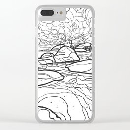 Eno River Sketch 2 Clear iPhone Case