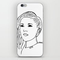 ellie goulding iPhone & iPod Skins featuring Ellie  by Rosalia Mendoza