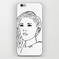 ellie goulding iPhone & iPod Skins featuring Ellie  by Rosalia Mendoza