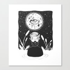 drowing in a swamp Canvas Print