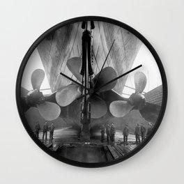 Titanic's Propellers Wall Clock