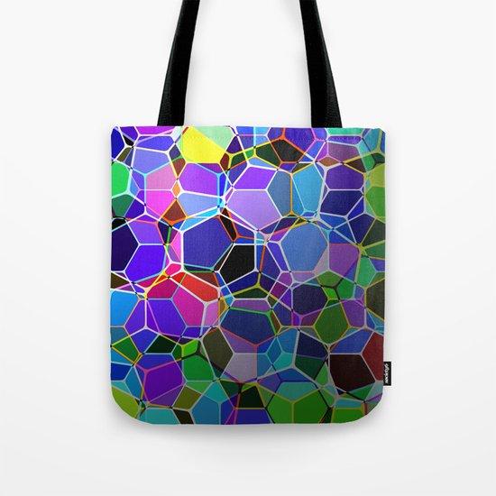 Geometric Genetics - Metallic, abstract, geometric pattern Tote Bag