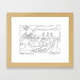 千代崎浜 Chiyozaki Beach Framed Art Print