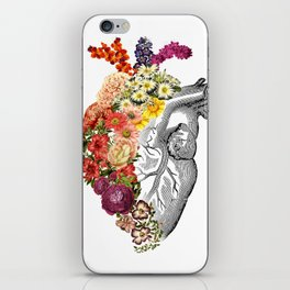 Flower Heart Spring White iPhone Skin