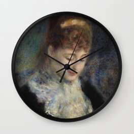 Woman Crocheting Wall Clock