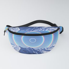 Winter Rainbows Mountains Landscape Fanny Pack