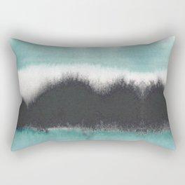 Aqua Drift Rectangular Pillow