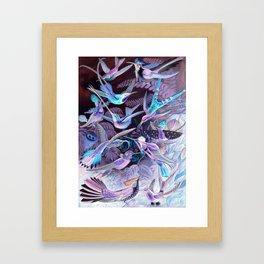 Ode to Haeckel's Hummingbirds Framed Art Print