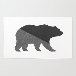 Cotton Gray Bear Rug