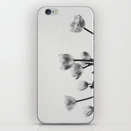 Black & White Tulips iPhone Skin