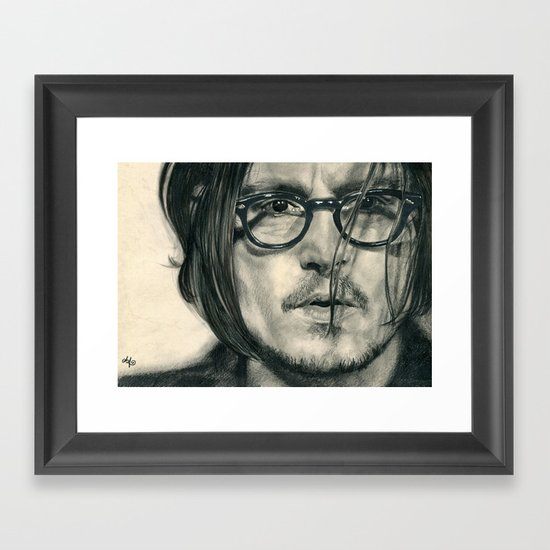 Secret Window Traditional Portrait Print Framed Art Print