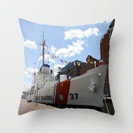 Coast Guard 37 Baltimore Harbor Throw Pillow