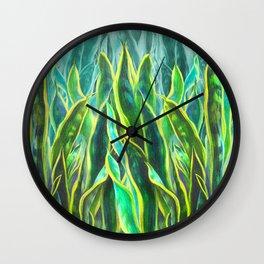 Sansevieria Wall Clock