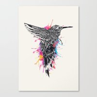 hummingbird Canvas Prints featuring HummingBird by efan