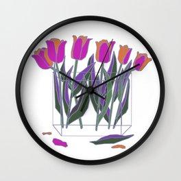 Tulips In Glass Wall Clock