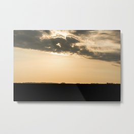 Sunset in the pampas. Metal Print