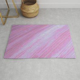 Pink Flower Petal Waves Rug