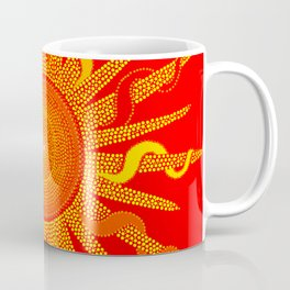 Let The Sunshine In - Dots Painting Coffee Mug