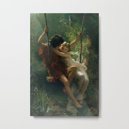 Springtime by Pierre-Auguste Cot 1873, French Metal Print
