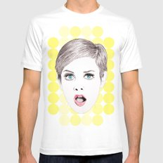 twiggy White Mens Fitted Tee MEDIUM