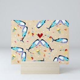 Rupydetequila whimsical floral art 2018 Mini Art Print