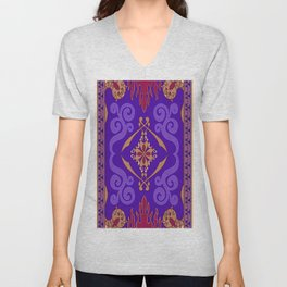 Aladdin Purple Magic Carpet Unisex V-Neck