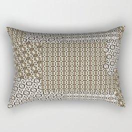 Animal Print Collage Textiles Rectangular Pillow