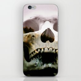 Horror in the woods iPhone Skin