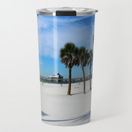 Clearwater Pier And Beach Travel Mug
