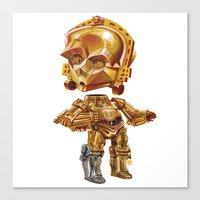 c3po Canvas Prints featuring C3PO by oRen