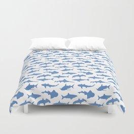 Sharks in Danube Blue Duvet Cover