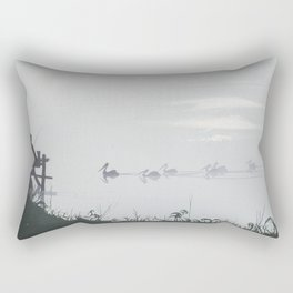 Misty Morning on the Clarence (1994) Rectangular Pillow
