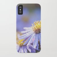 biology iPhone & iPod Cases featuring Blue Aster in LOVE I by UtArt