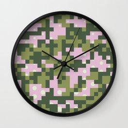 Camo pixel Wall Clock
