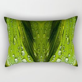 Floral Reflections in water Rectangular Pillow