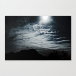 To the Mountain by Midnight Canvas Print
