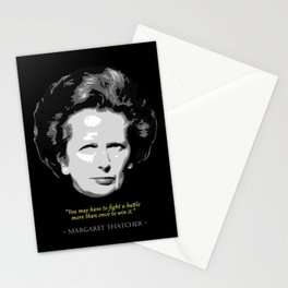 Margeret Thatcher Quote Stationery Cards