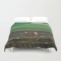 champagne Duvet Covers featuring Champagne by Maria Julia Bastias