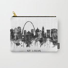 St. Louis Missouri Skyline BW Carry-All Pouch