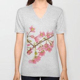 Watercolor Spring Tree Branche Unisex V-Neck