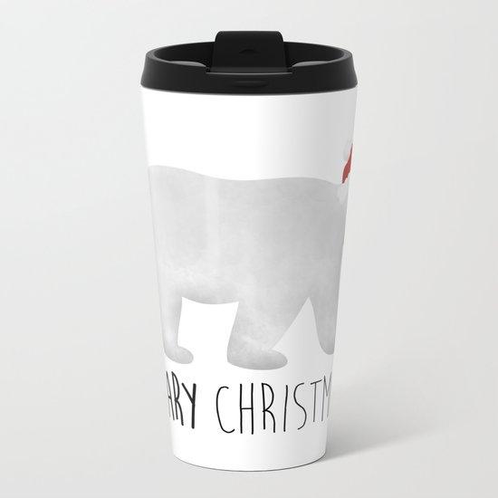Beary Christmas | Polar Bear Metal Travel Mug