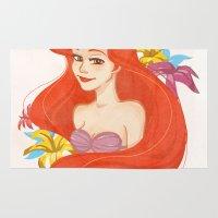 ariel Area & Throw Rugs featuring Ariel by Rosita Maria